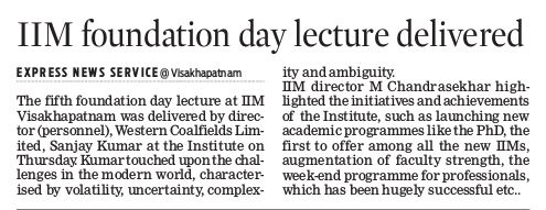 5th Foundation Day Guest Lecture