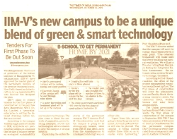 IIM-V's new campus to be a unique blend of green&smart technology